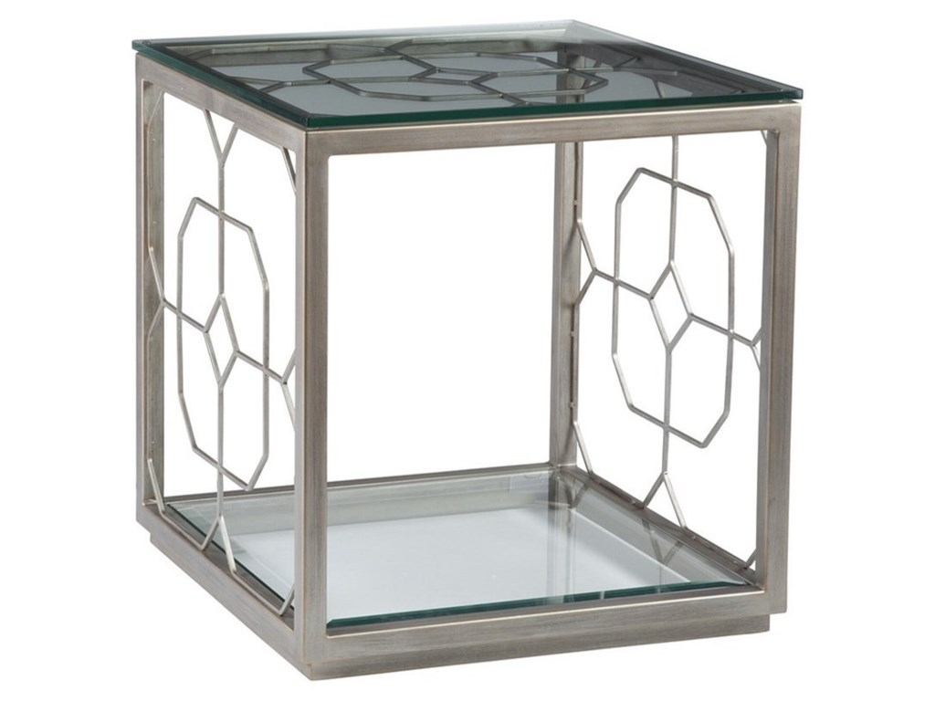 Artistica Artistica MetalHoneycomb Square End Table