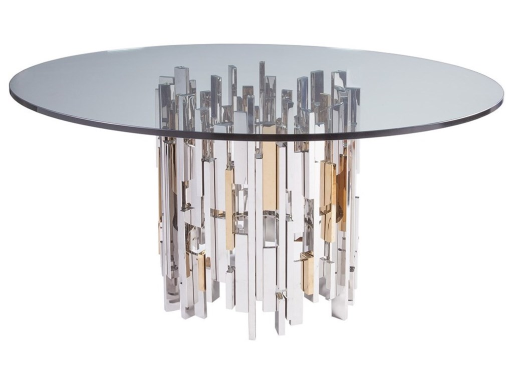 Artistica CityscapeCityscape Round Dining Table With Glass Top