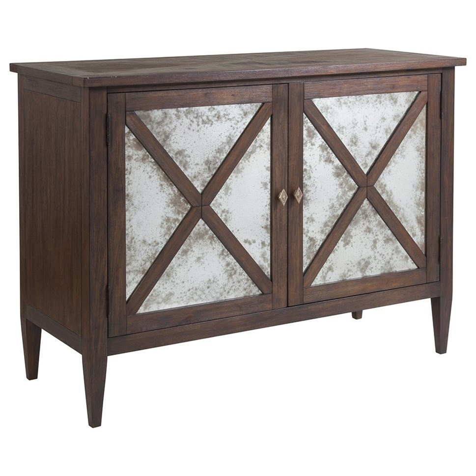 Apertif Antiqued Mirror Buffet with Two Doors and Two Adjustable Shelves