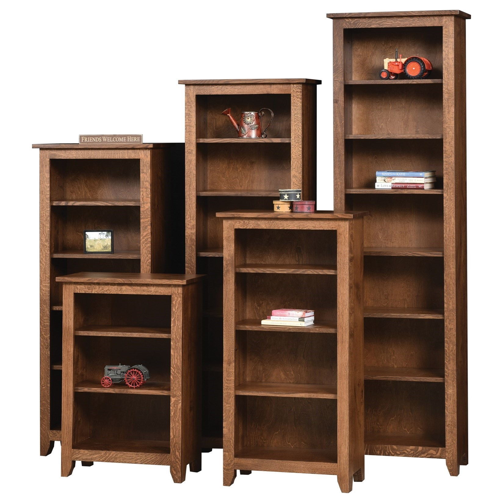 Ashery Oak Modern Mission Customizable Solid Wood Open