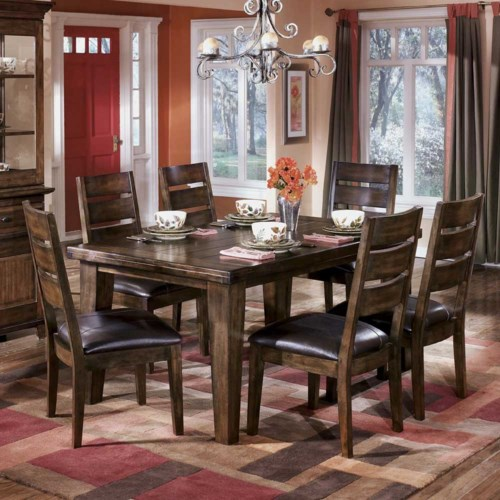 Signature Design By Ashley Larchmont Rectangular Dining Table And 6
