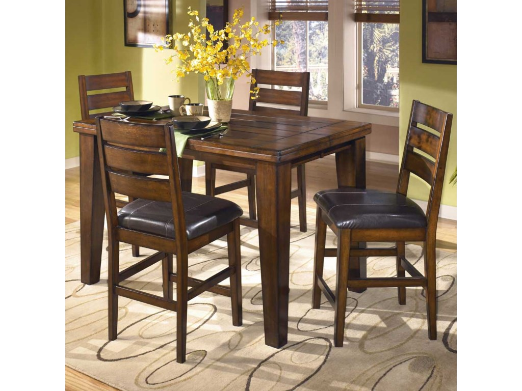 Signature Design by Ashley LarchmontPub Table and 6 Bar Stools