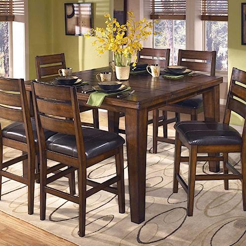 signature design by ashley larchmont butterfly leaf pub table turk furniture pub tables