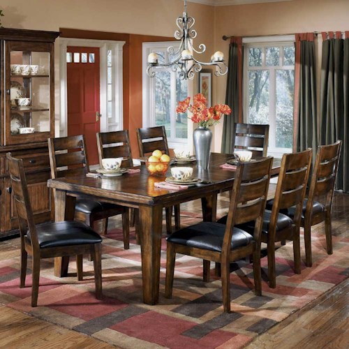 Signature Design by Ashley Larchmont Rectangular Extension Table and ...