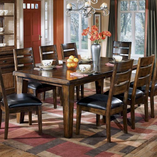 Signature Design By Ashley Larchmont Rectangular Extension Table Godby Home Furnishings