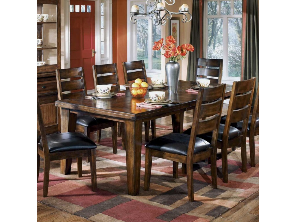 Home Dining Room Furniture Tables Ashley Signature Design Larchmont Extension Table LarchmontExtension