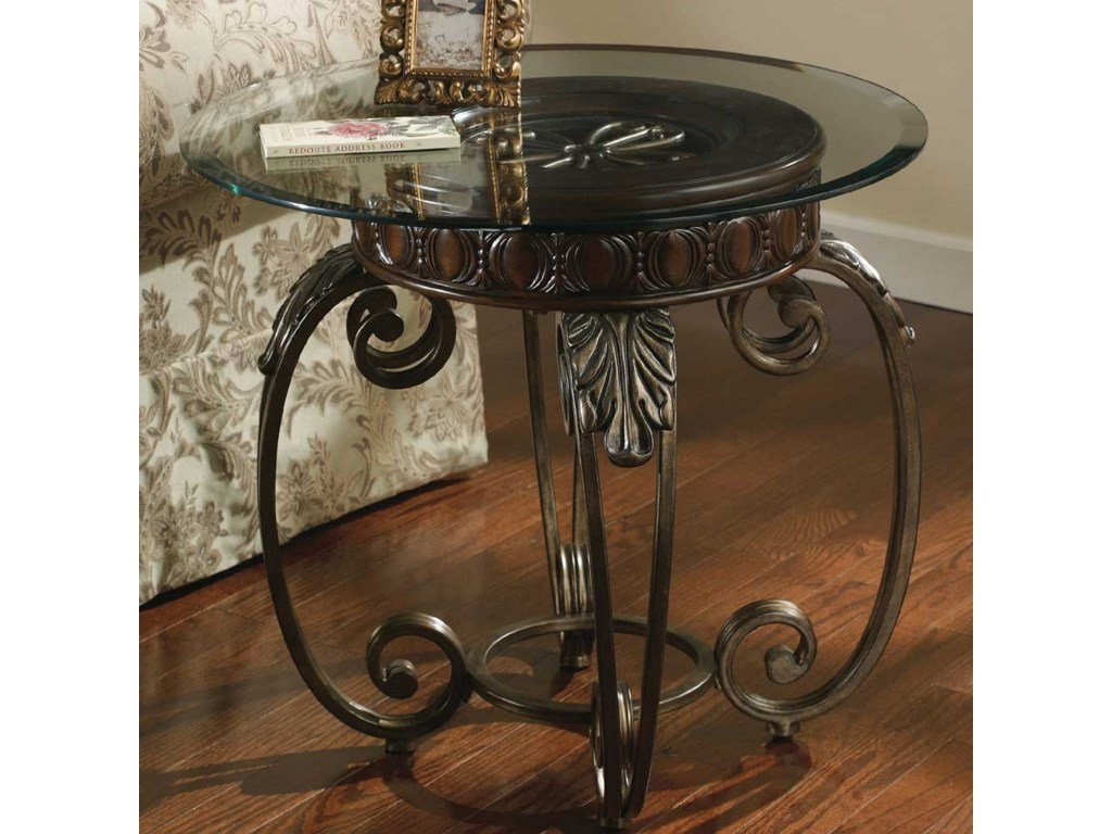 Signature Design By Ashley Tulliometal Round End Table
