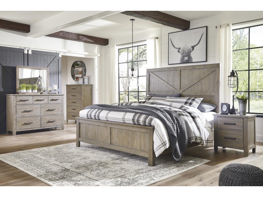 Ashley Furniture AldwinQueen Panel Bed Package
