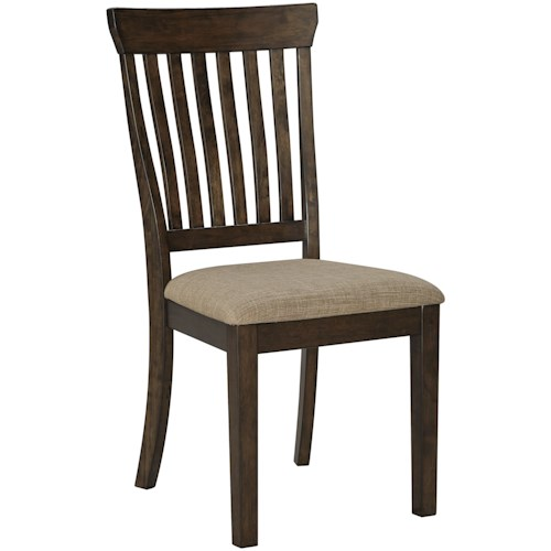 Ashley Furniture Alexee Casual Upholstered Side Chair with Slat Back