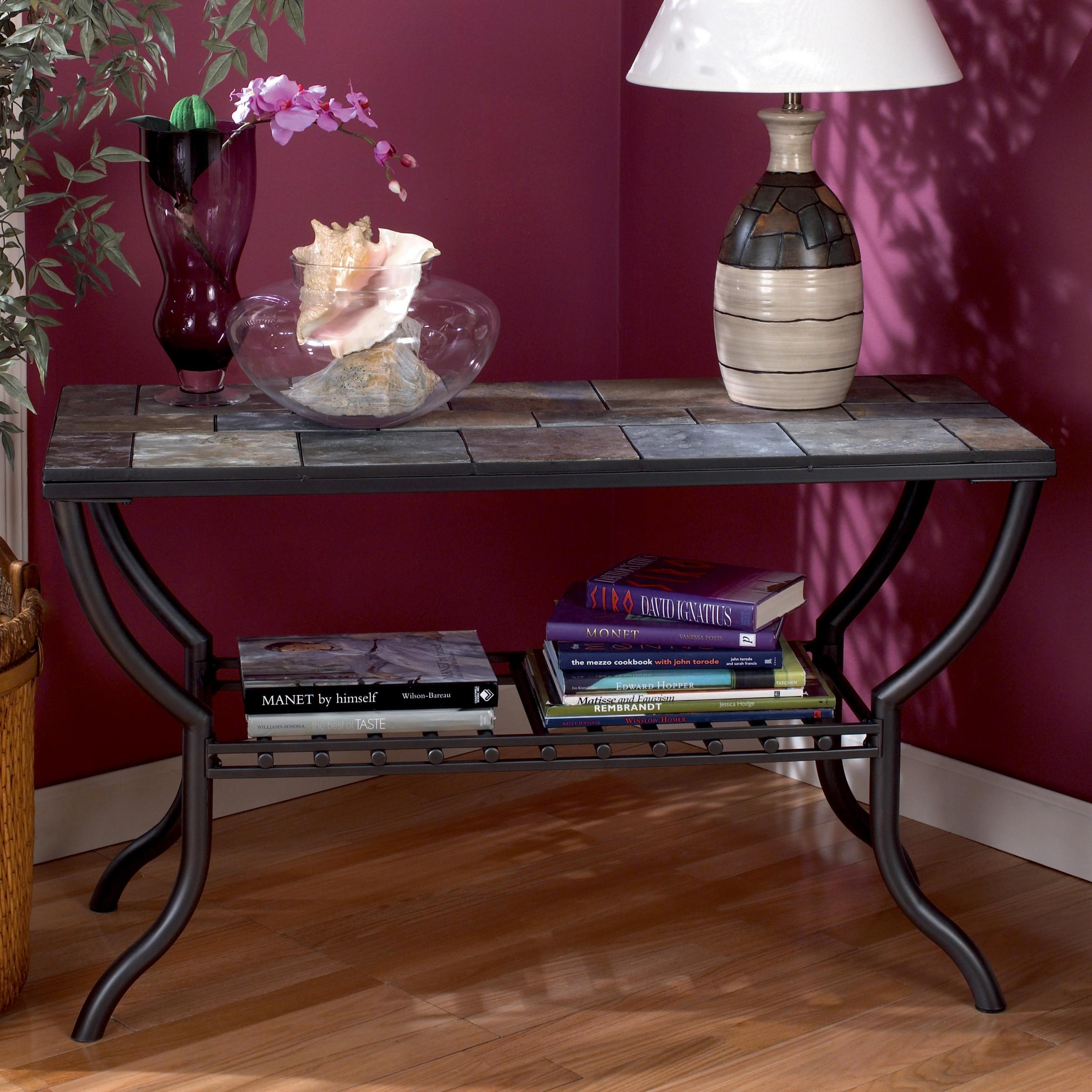 Signature Design By Ashley Antigo Slate Top Sofa Table   Royal Furniture    Console/Sofa Table