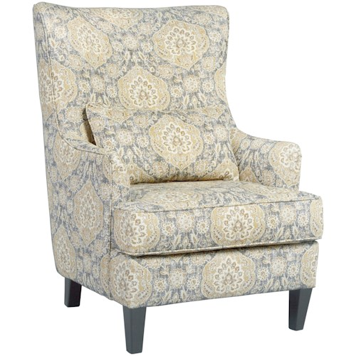 Accent Chairs.Aramore Scalloped Wingback Accent Chair By Ashley Furniture