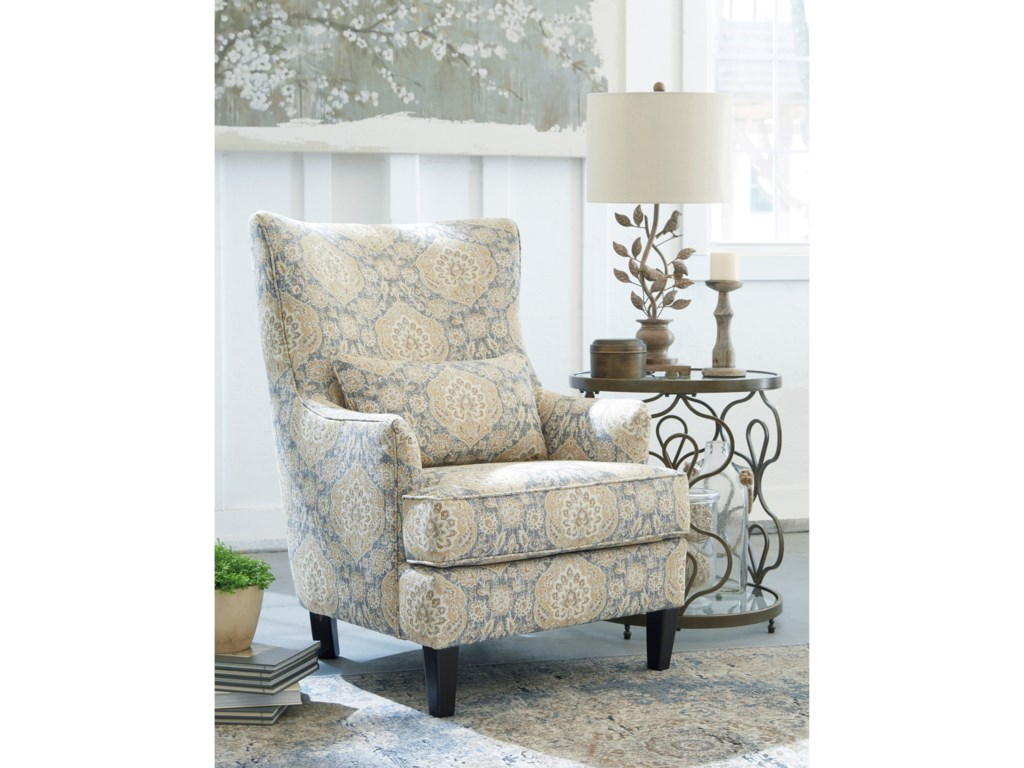 Ashley Furniture Aramore 1280522 Scalloped Wingback Accent Chair ...