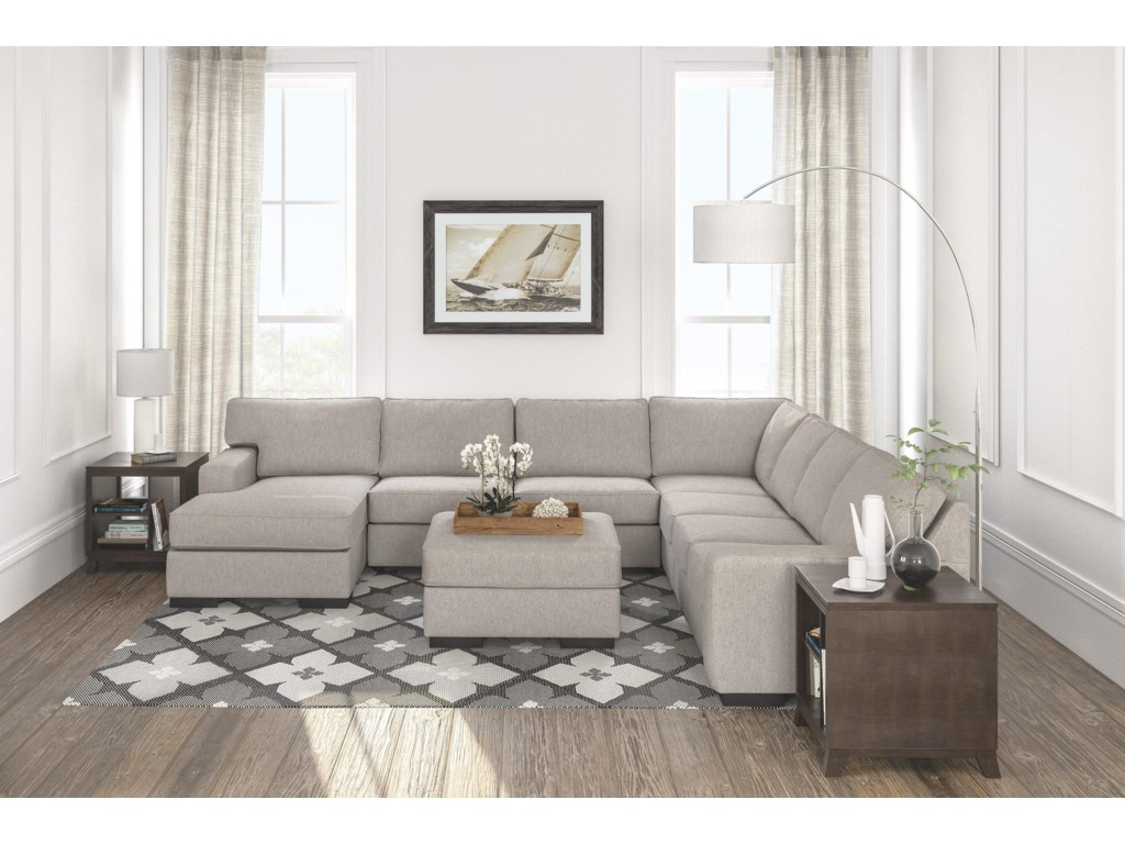 Ashley Furniture Ashlor Nuvella5 PC Sectional and Ottoman Set