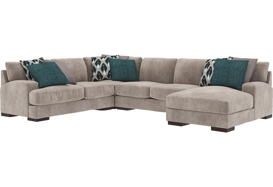 Ashley Furniture Bardarson 6440355 34 77 17 4 Piece Contemporary Sectional With Chaise And Appliancemart Sofas