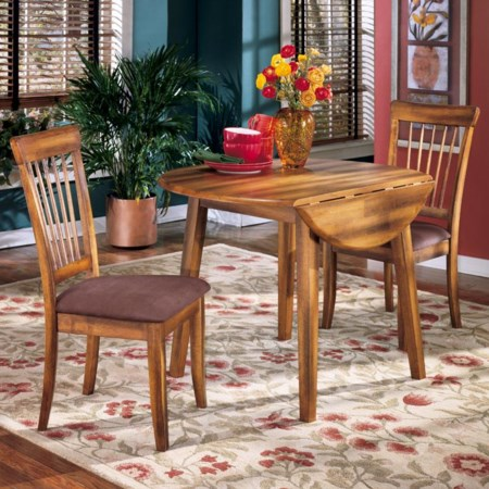 3-Piece Drop Leaf Table & Side Chair Set
