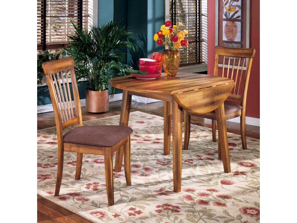 Ashley Furniture Berringer3 Piece Drop Leaf Table Side Chair Set