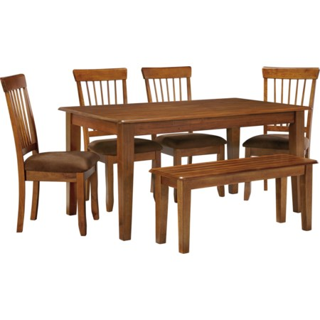 36 x 60 Table with 4 Chairs & Bench