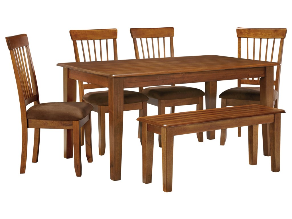 Ashley Furniture Barista 36 x 60 Table with 4 Chairs & Bench | John ...