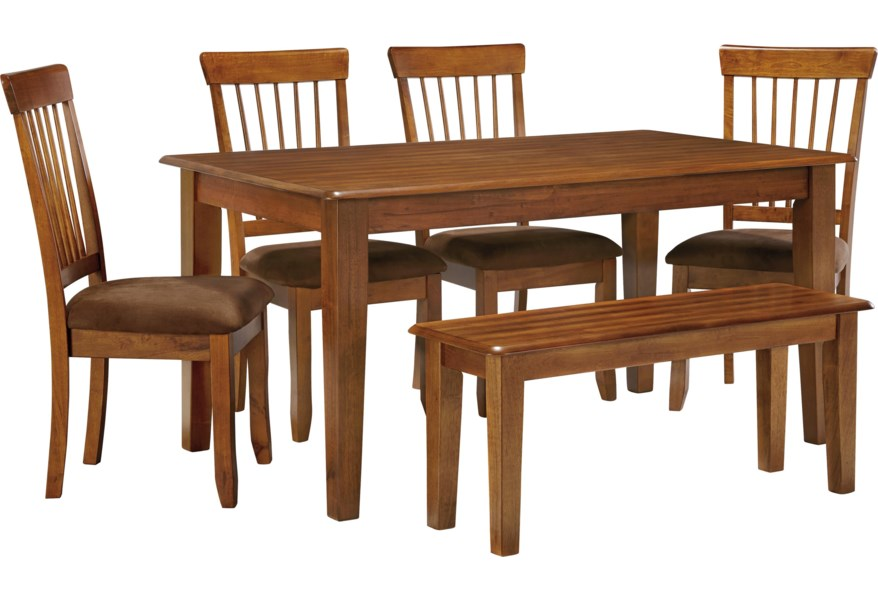 Berringer 36 x 60 Table with 4 Chairs & Bench