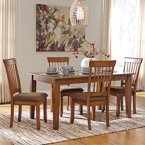 Ashley Furniture Berringer 5-Piece 36x60 Table & Chair Set