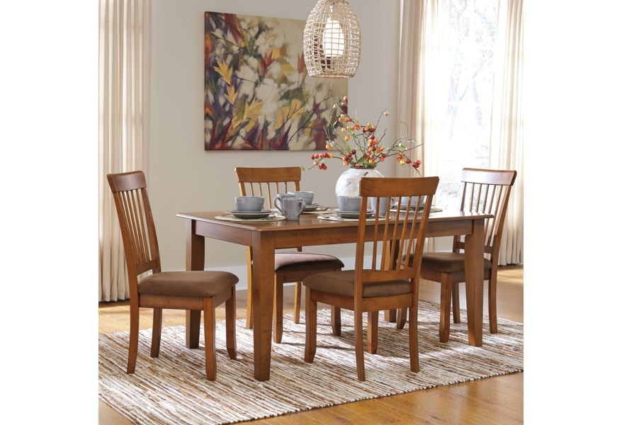 Berringer 5-Piece 36x60 Table & Chair Set by Ashley Furniture at Dunk &  Bright Furniture