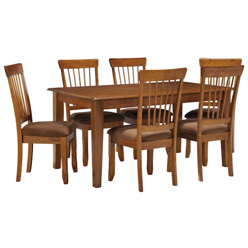 Ashley Furniture Berringer 7-Piece 36x60 Table & Chair Set