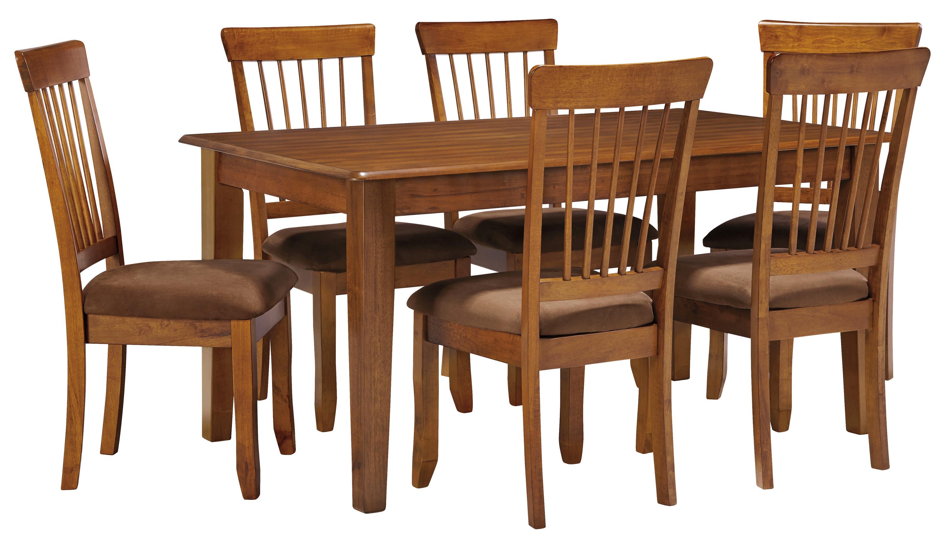 Ashley Furniture Berringer 7 Piece 36x60 Table U0026 Chair Set ...