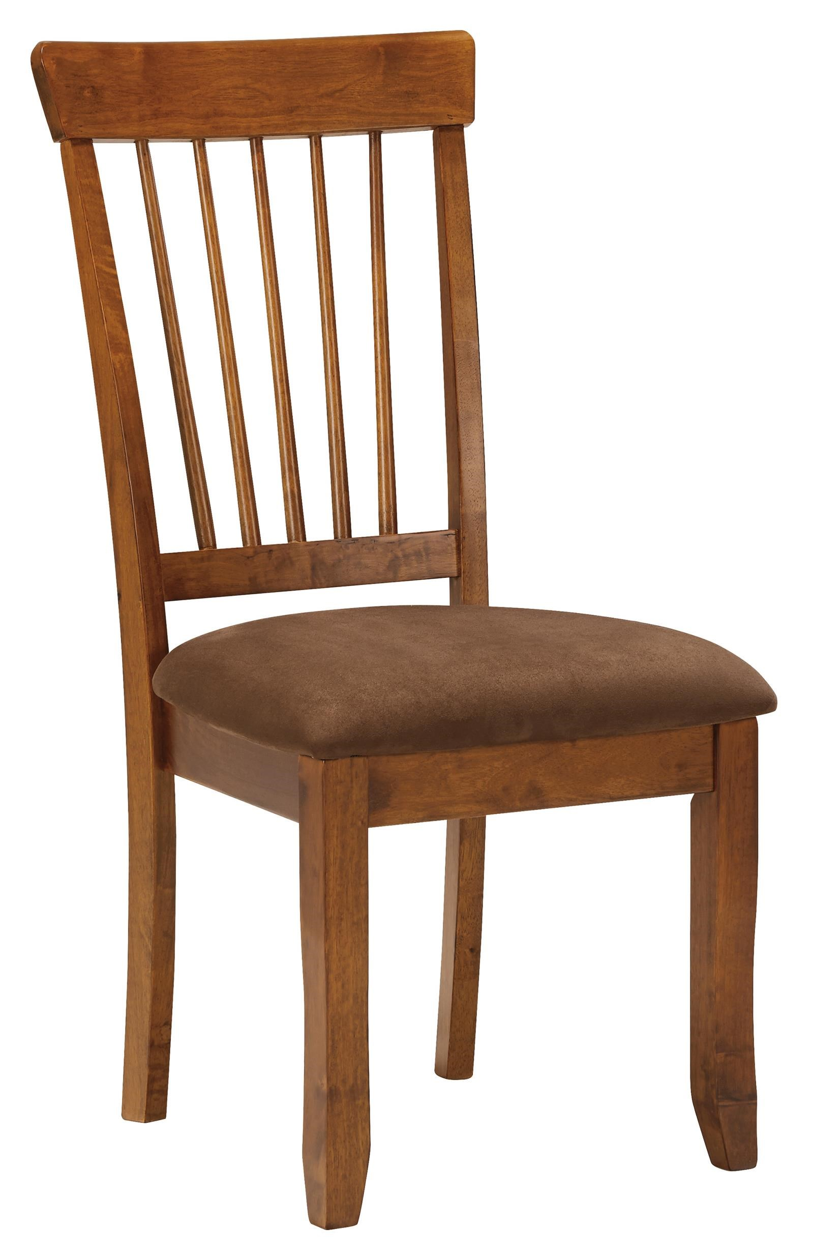 Ashley Furniture Berringer Hickory Stained Side Chair With Upholstered Seat  | Bullard Furniture | Dining Side Chairs Fayetteville, NC