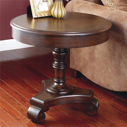Signature Design by Ashley Brookfield Round End Pedestal Table