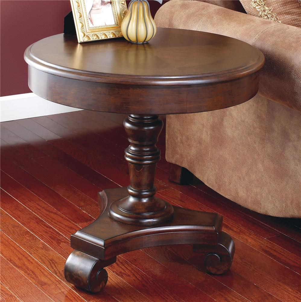 Brookfield Round End Pedestal Table By Signature Design By Ashley