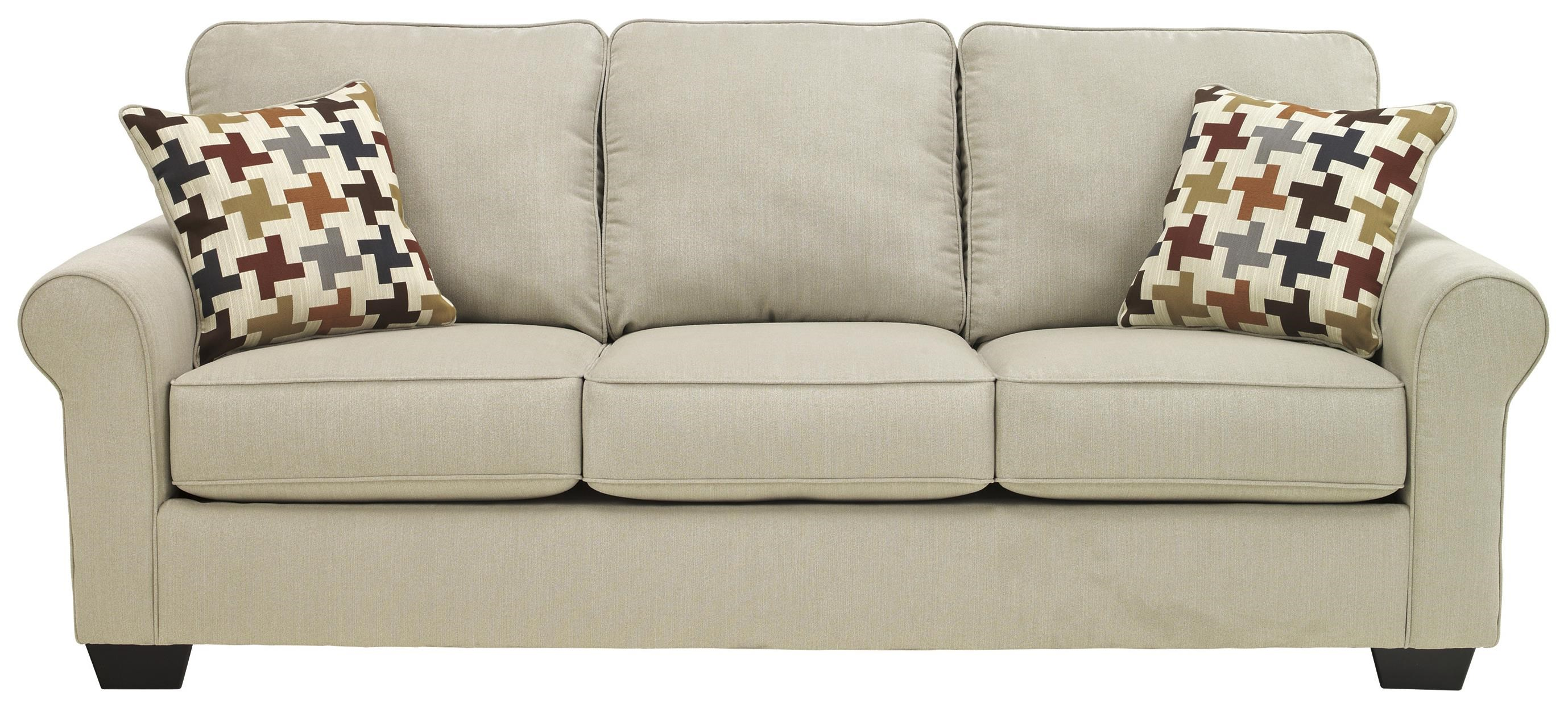 Ashley Furniture Caci Contemporary Sofa With Rolled Arms   Miskelly  Furniture   Sofas