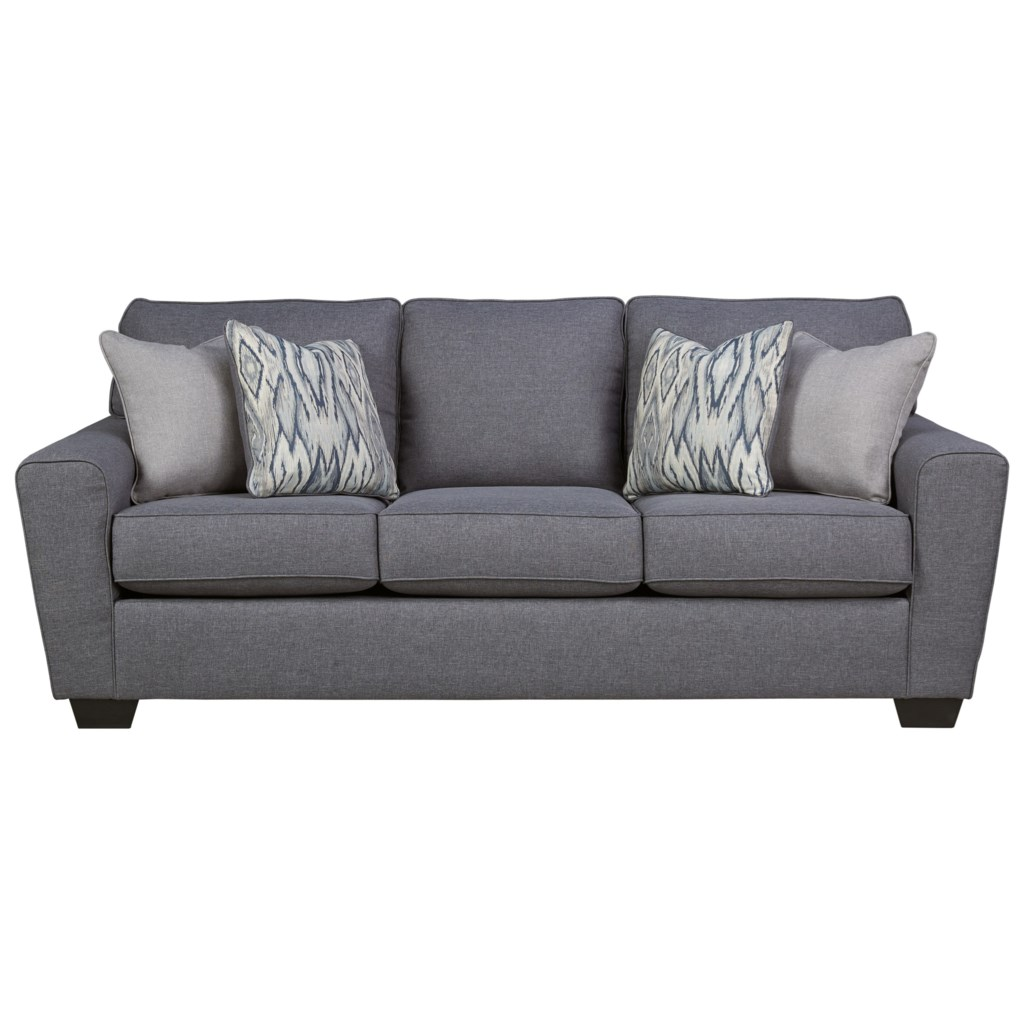 Ashley Furniture Calion Contemporary Queen Sofa Sleeper With  ~ Sleeper Sofa Memory Foam