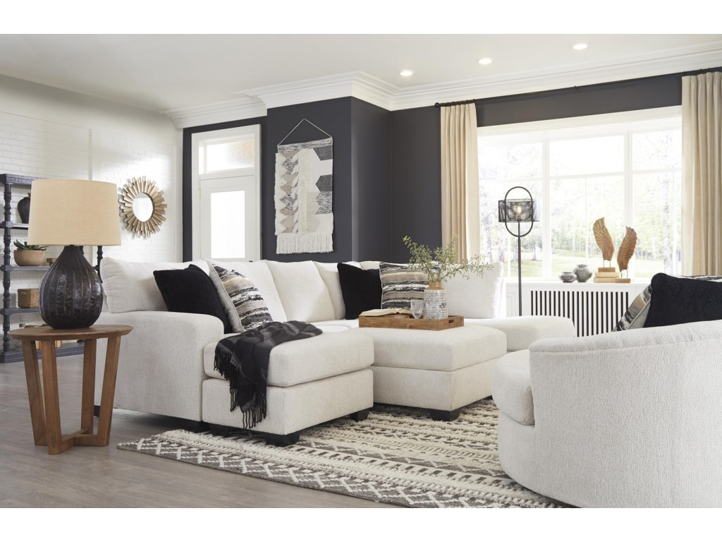 Ashley Furniture Cambri2 PC Sectional And Swivel Chair Set