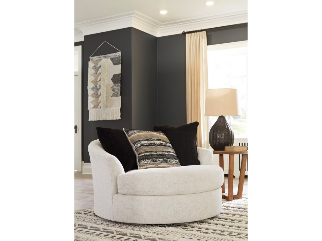 Ashley Furniture CambriOversized Round Swivel Chair