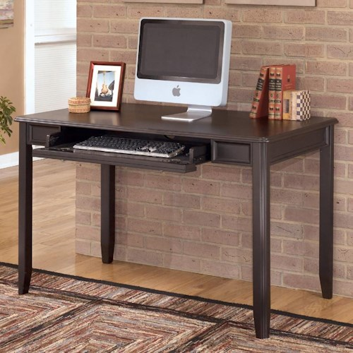 Signature Design by Ashley Carlyle Small Leg Desk with Rollout Drawer