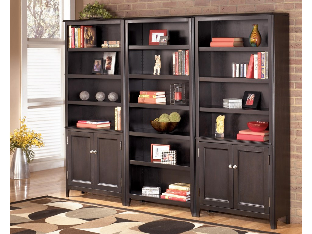 2 Large Door Bookcases Shown with Large Bookcase