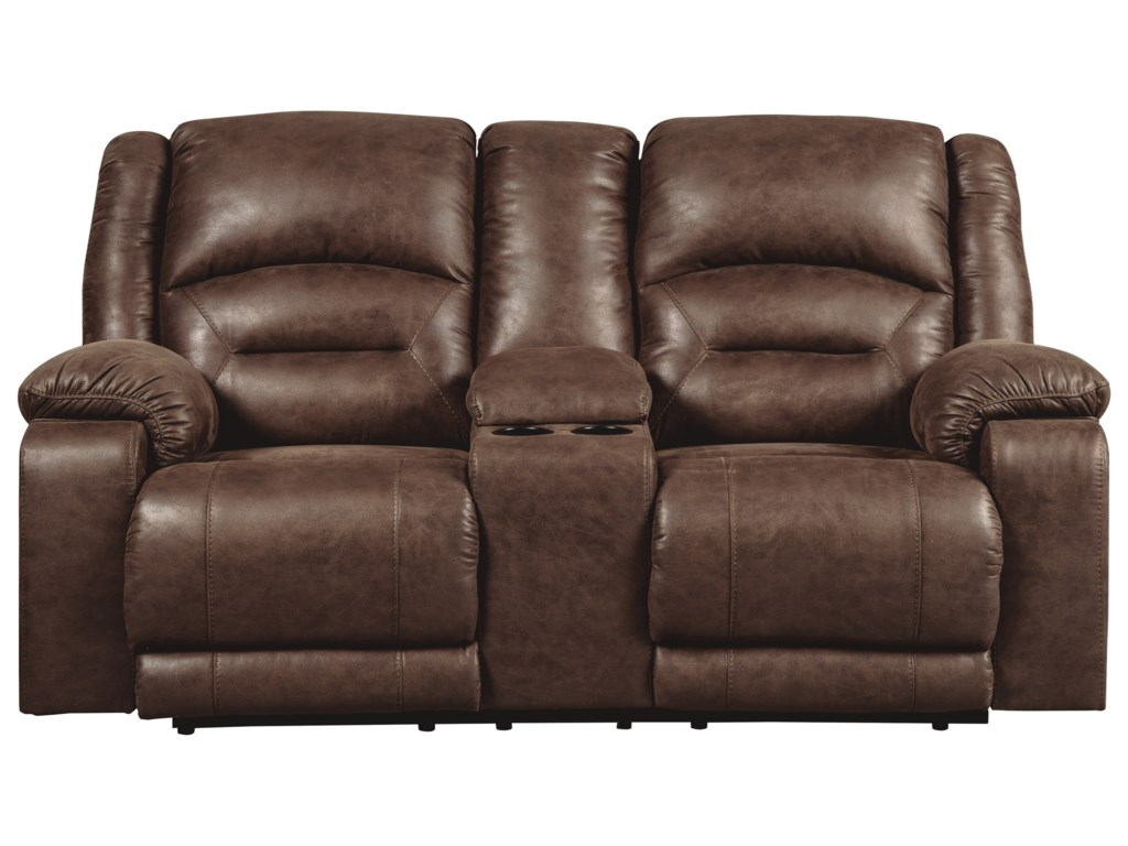 reclining recliner loveseat console center with w power