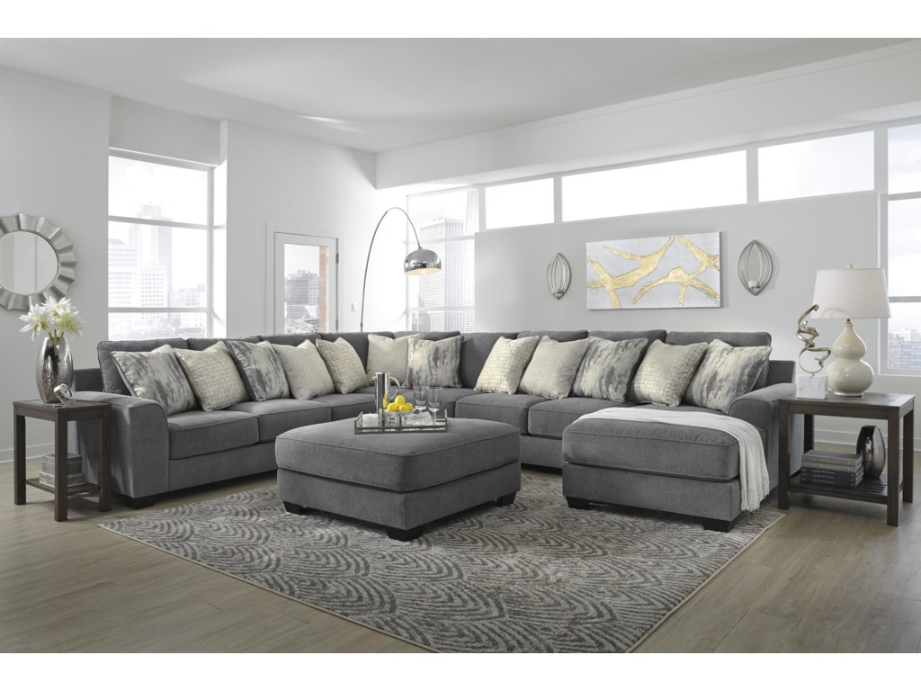 Ashley Furniture Castano5 Piece Sectional with Ottoman