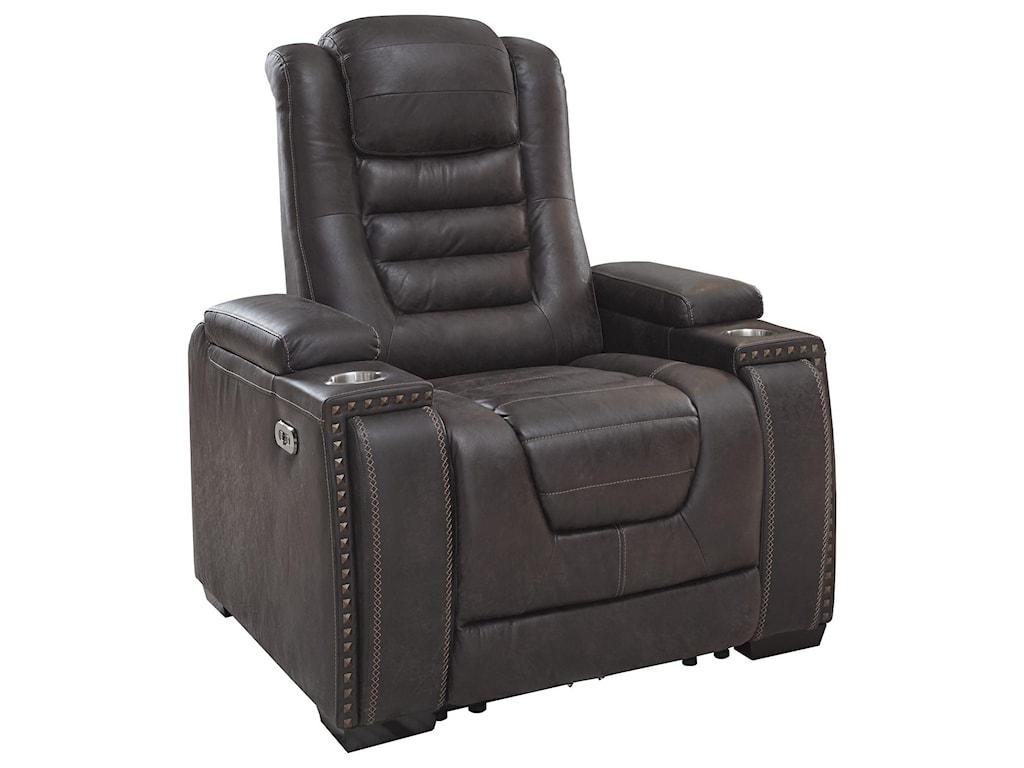 Ashley Furniture Cave WarriorPower Headrest Recliner
