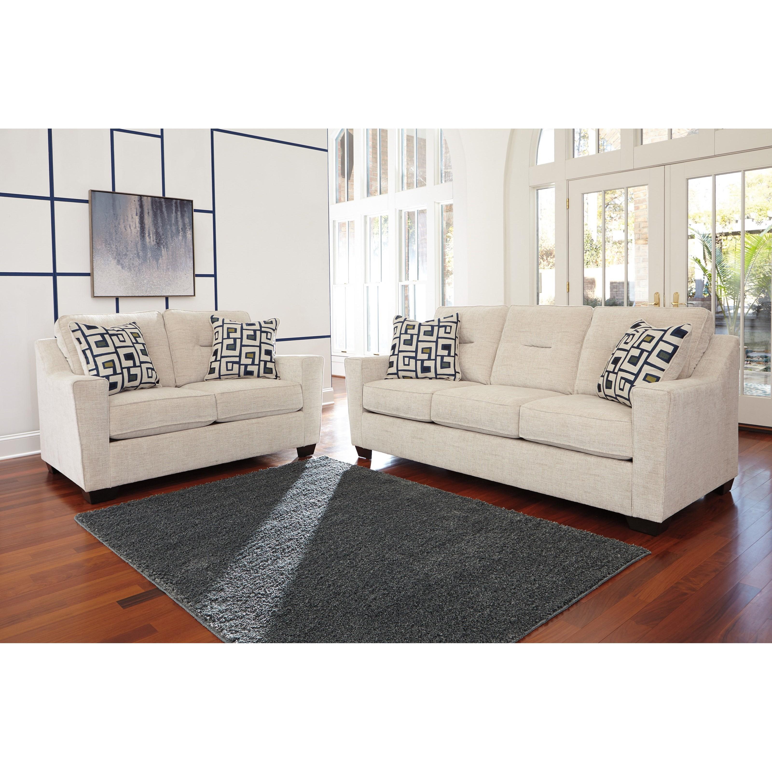 Ashley Furniture Cerdic Stationary Living Room Group   Becker Furniture  World   Stationary Living Room Groups