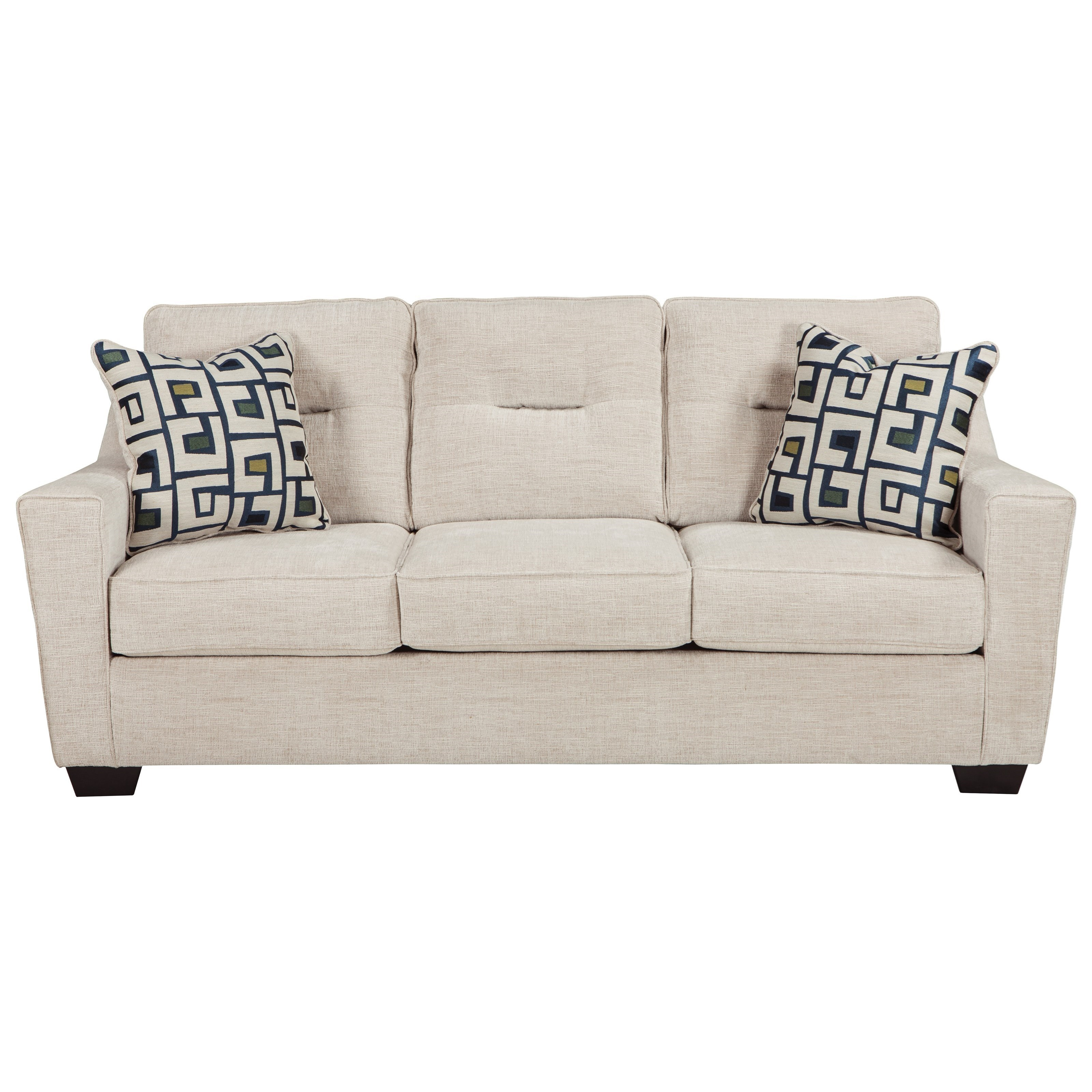 ashley furniture cerdic sofa with shaped track arms miskelly furniture sofas
