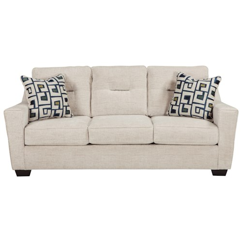 Ashley Furniture Cerdic Contemporary Queen Sofa Sleeper With Memory Foam Mattress Godby Home