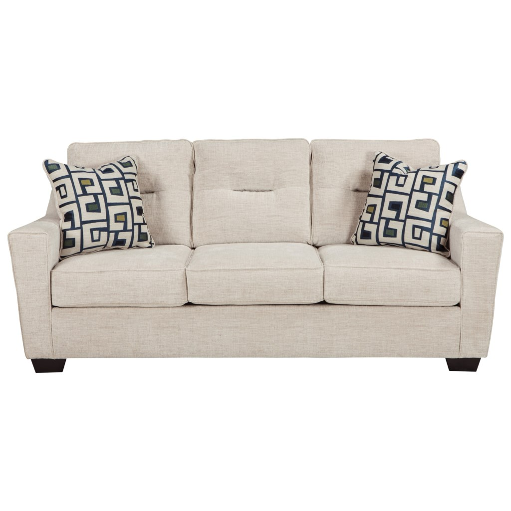 Ashley Furniture Cerdic Contemporary Queen Sofa Sleeper With  ~ Sofa Beds Ashley Furniture