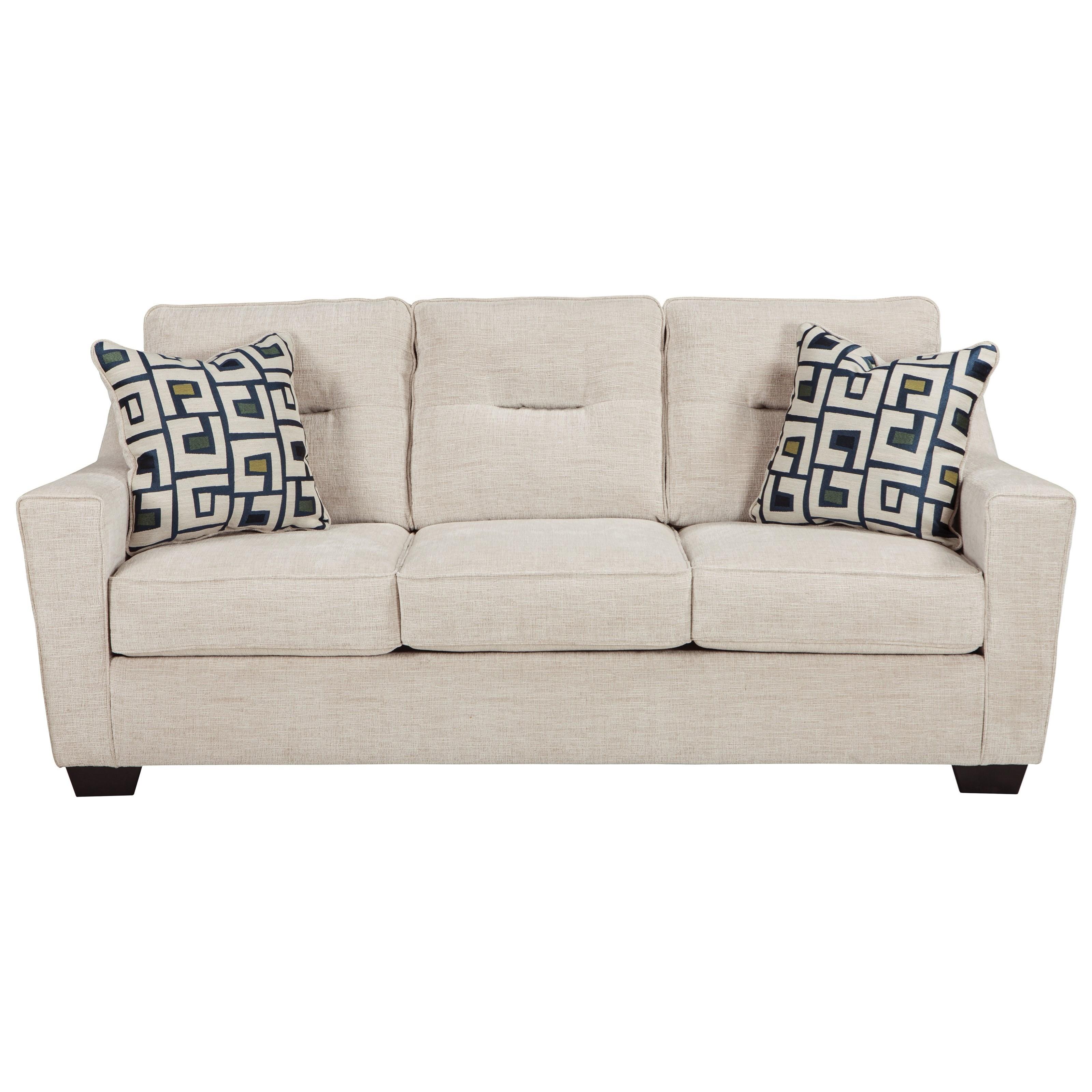 ashley furniture cerdic queen sofa sleeper with memory foam mattress household furniture sleeper sofas - Queen Sofa Sleeper
