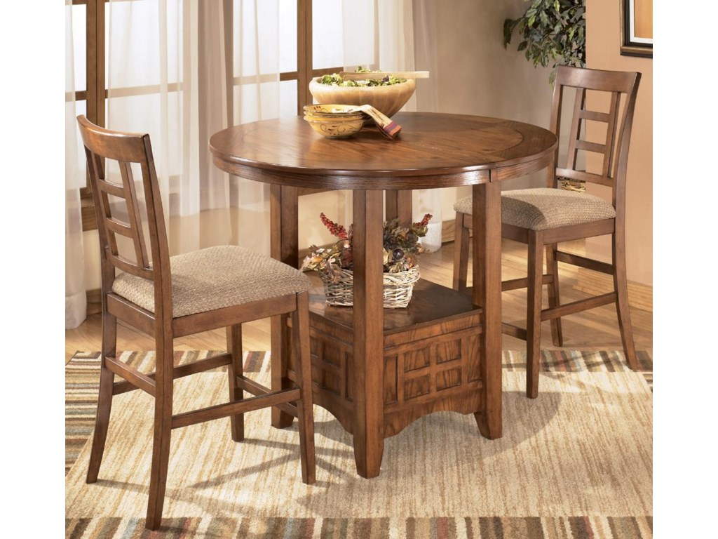 Shown as part of 3-piece counter height dining set