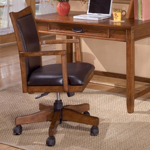 Ashley Furniture Cross Island Swivel Desk Chair with Adjustable Height