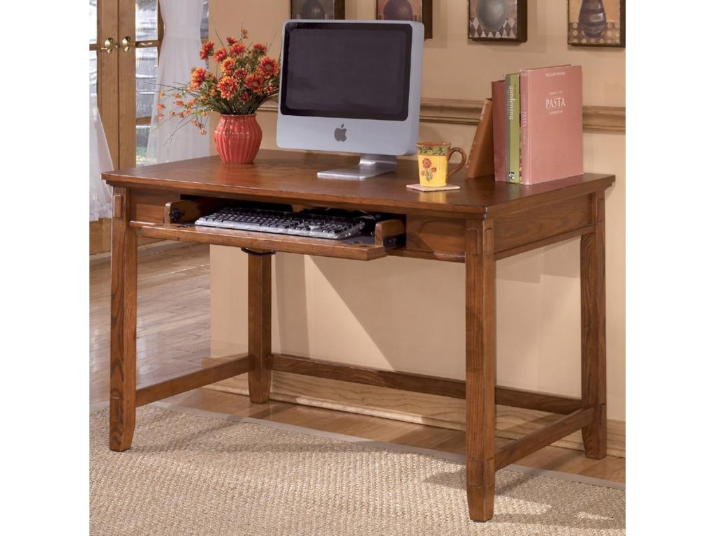 Ashley Furniture Cross Island Small Leg Desk With Keyboard Drawer Royal Table Desks Writing