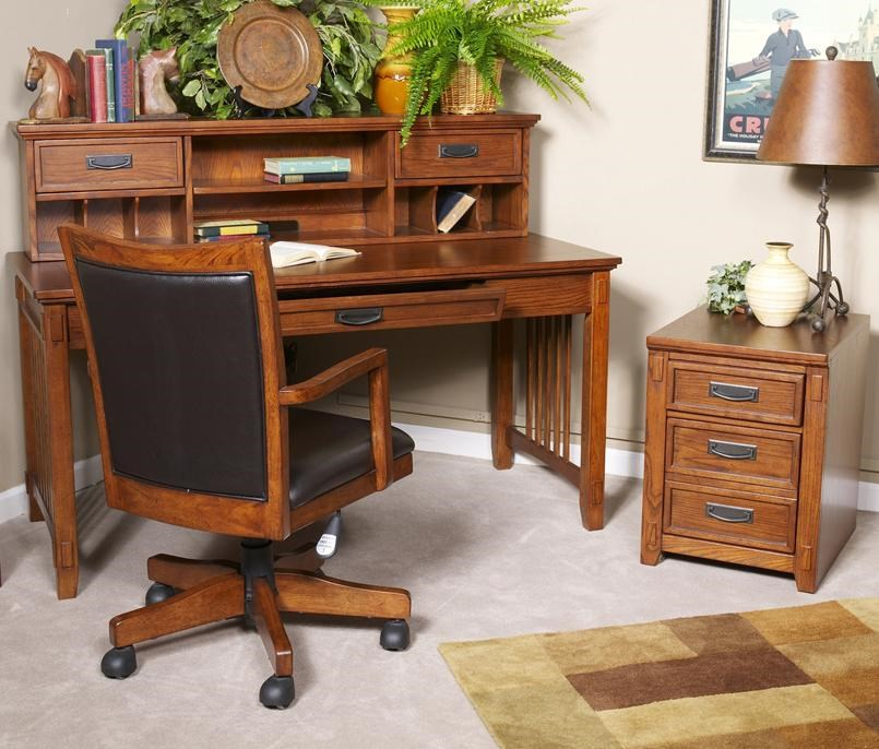 shown with leg desk with storage and arm chair with swiveladj height