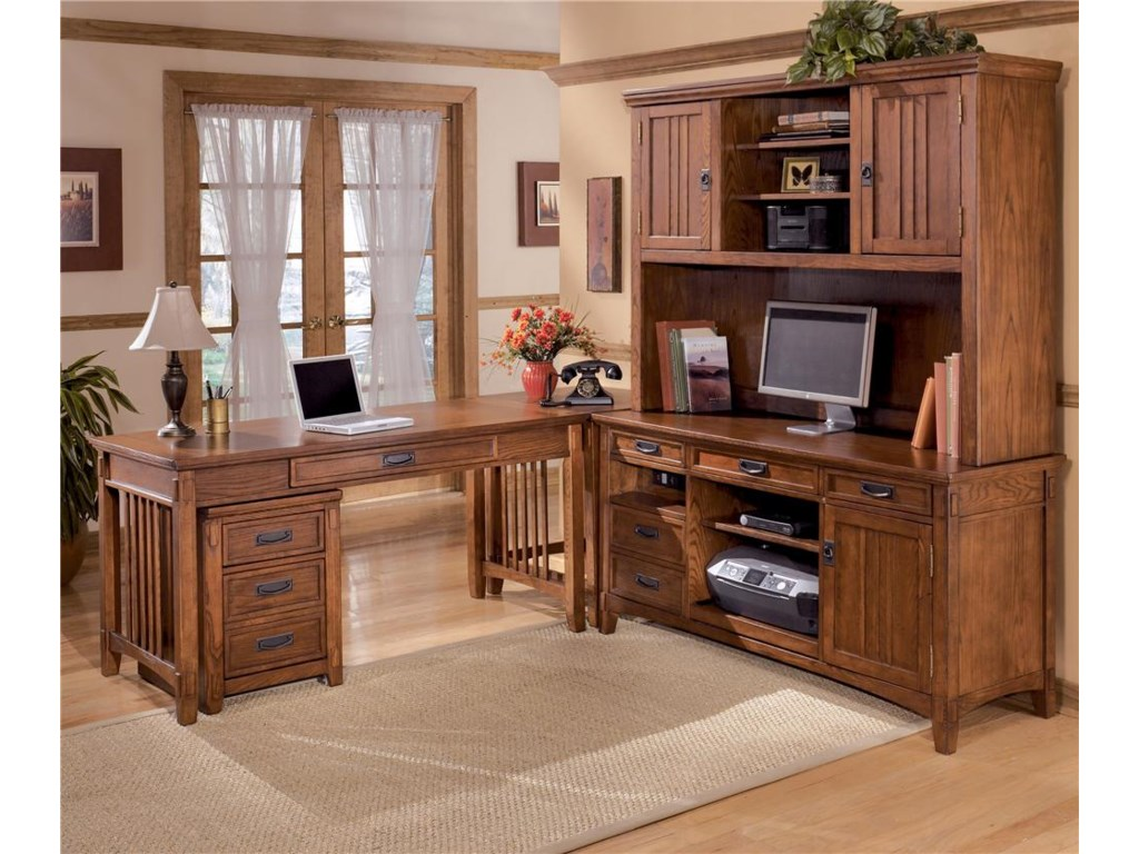 Shown with L-Shape Large Credenza Desk