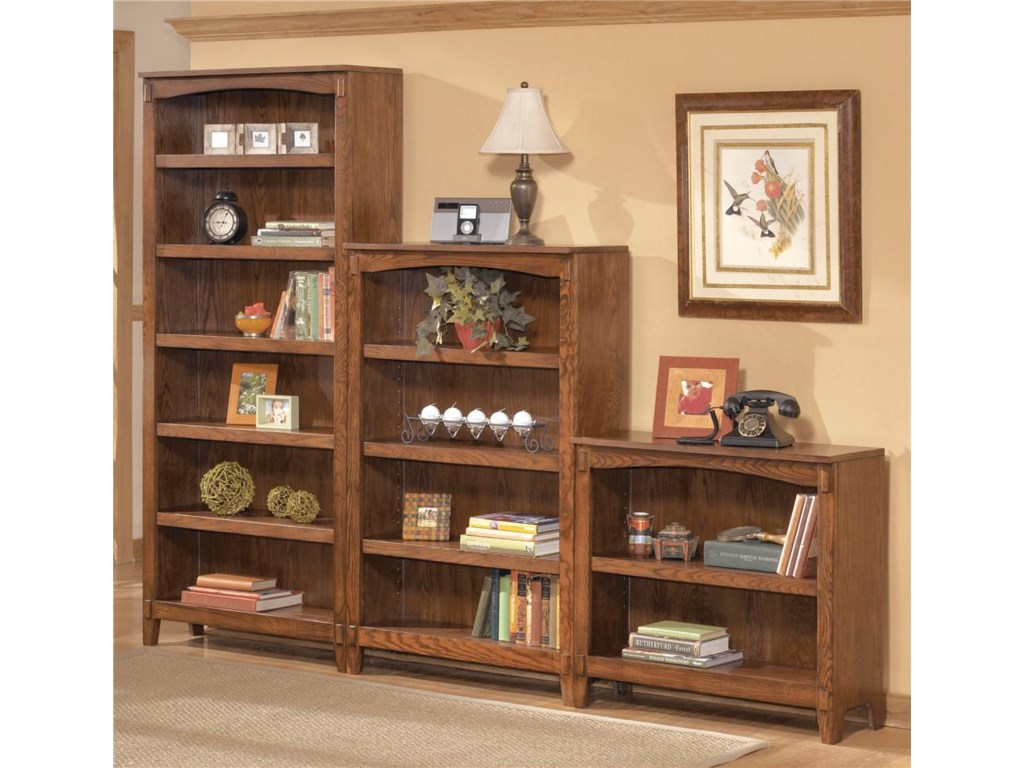 Ashley Furniture Cross Island H319 17 Large Bookcase Dunk Bright